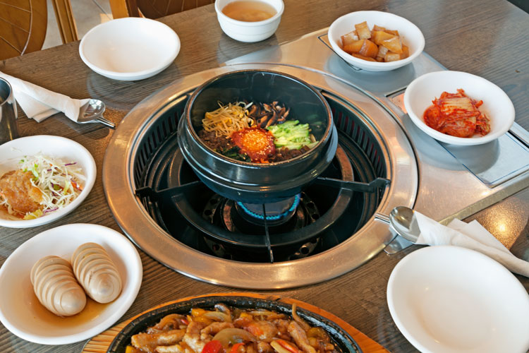 Korean dish at Bon Ga Ne restaurant