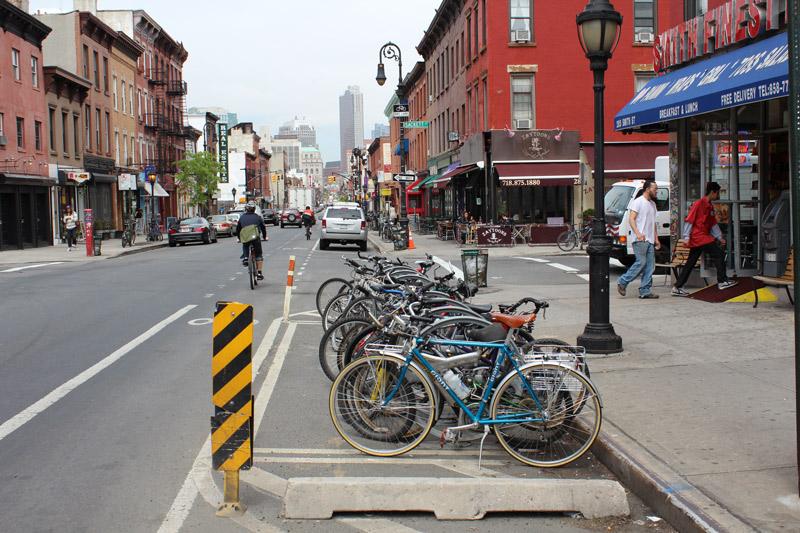 Bike corral at Smith St, Brooklyn by Gemma Gracewood