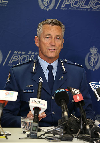 New Zealand Police Commissioner Mike Bush