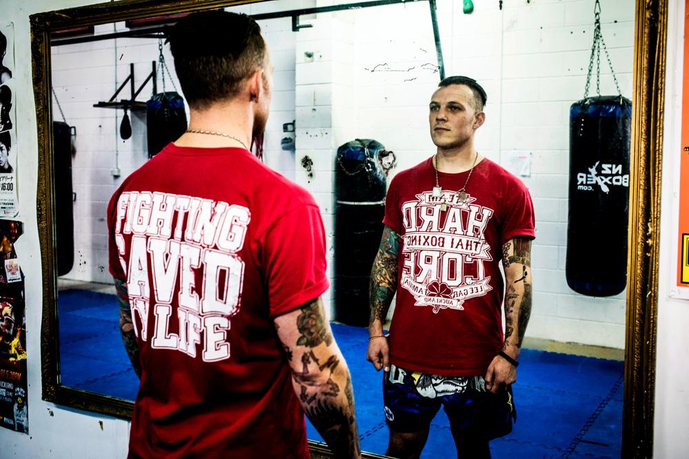 Muay Thai boxer Richie Hardcore.