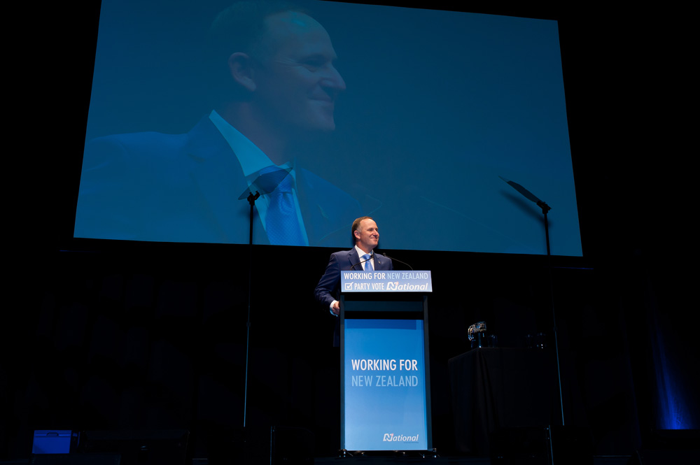 John Key at the National Party 2014 campaign launch