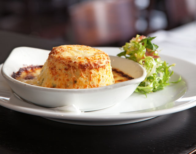 Goat's cheese souffle at the Engine Room
