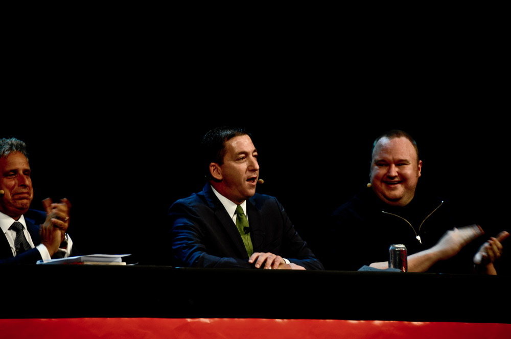 Robert Amsterdam, Glenn Greenwald and Kim Dotcom