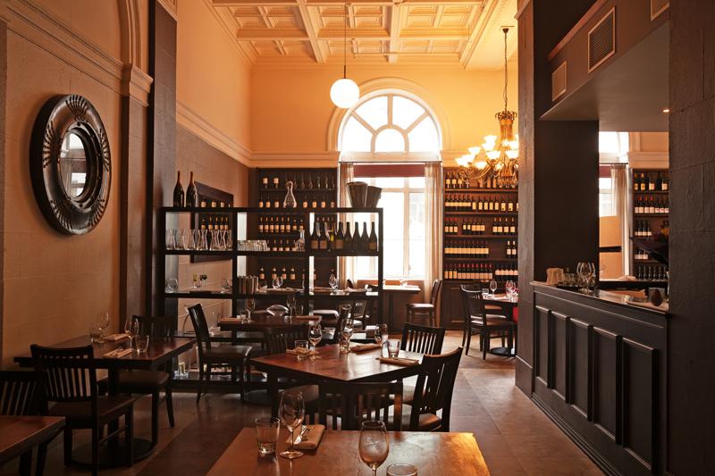Interior of Wine Chambers restaurant, Auckland