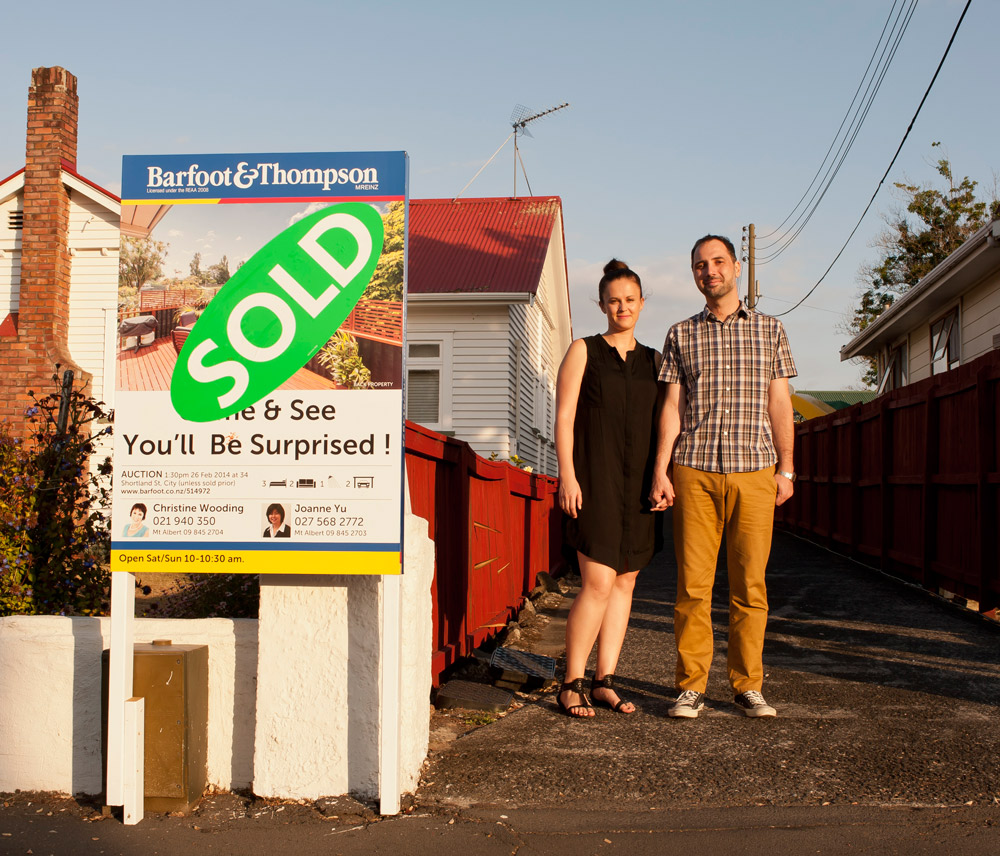 Auckalnd home buyers Hayley Barnett & Karl Puschmann