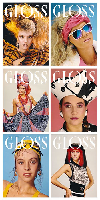Fictional magazine covers used on the series.