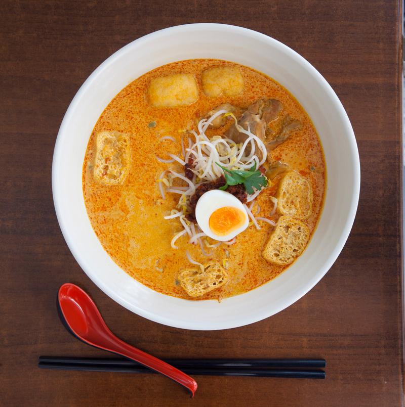 Laksa at Mamak Malaysian restaurant, Auckland