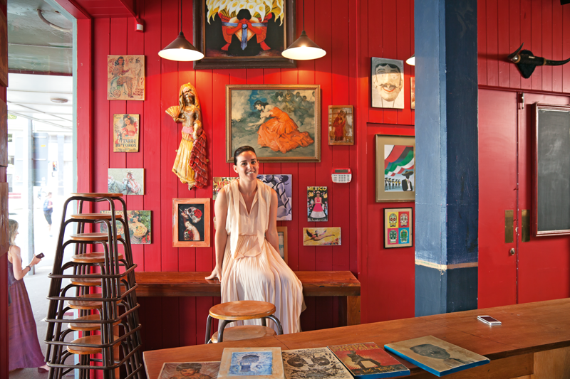 Owner Mimi Gilmour at Mexico restaurant, Auckland