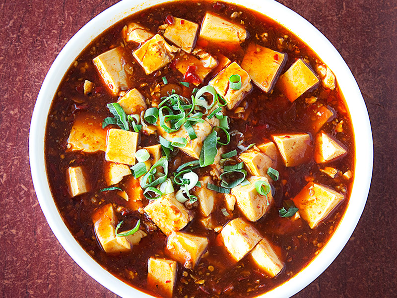 Ma po tofu at Spicy House