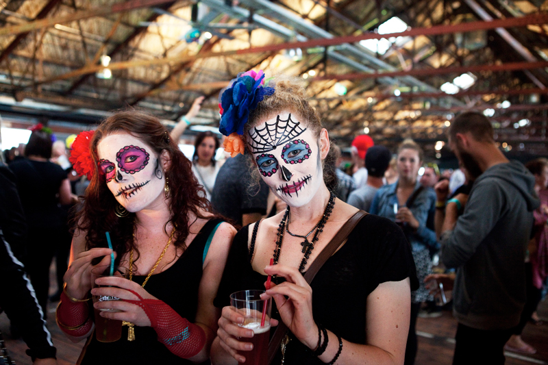 Party time in Shed 10 - the NZ Beer Festival. Photo: Ken Downie.