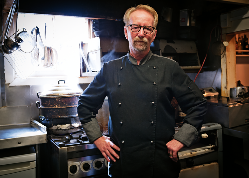 Chef/owner Tony Astle at Antoine's restaurant, Auckland