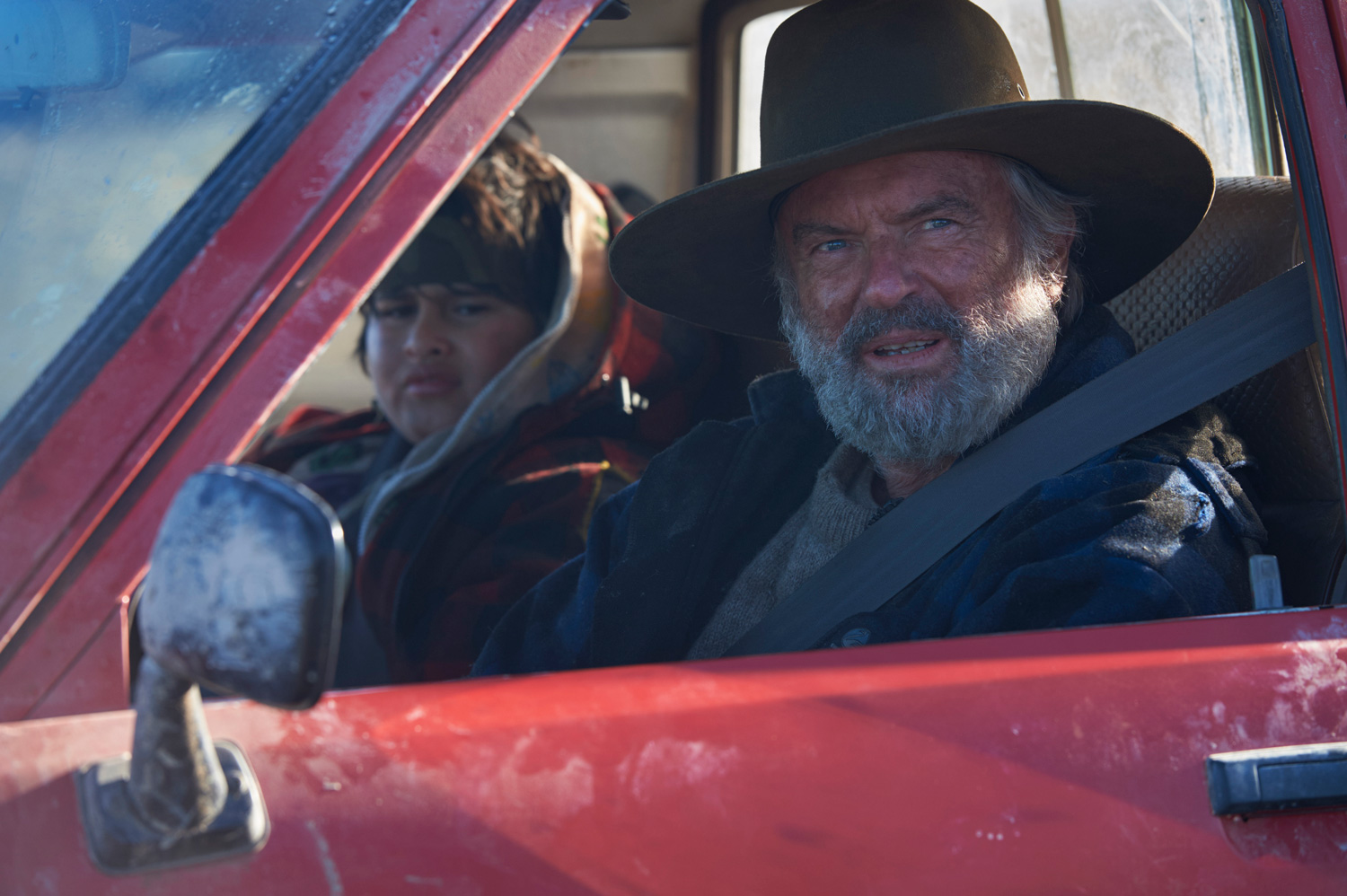 Julian Dennison (Ricky) and Sam Neill (Hec) in Hunt for the Wilderpeople.