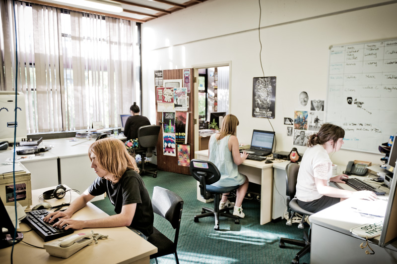 The bFM office