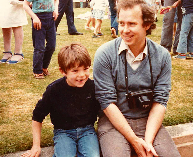 Father and son at the Feilding A&P Show, 1982.