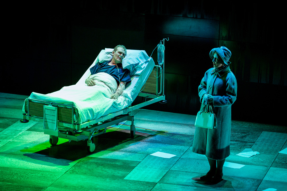 Stephen Lovatt and Alison Bruce in Angels in America. Photo: Andrew Malmo.
