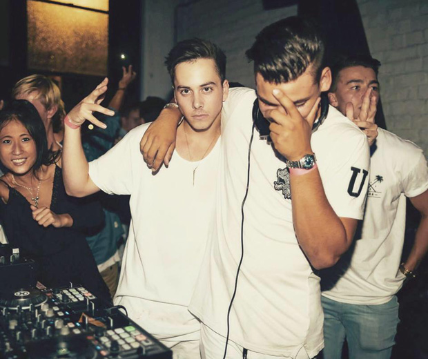 Max with Joshua Troskie, his other half in the DJ duo Troskey.