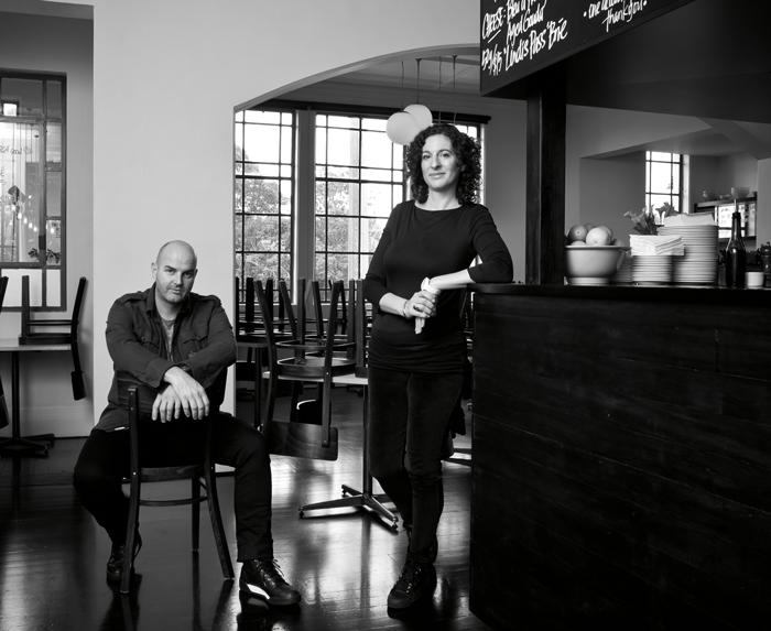 Carl Koppenhagen and Natalia Schamroth at The Engine Room