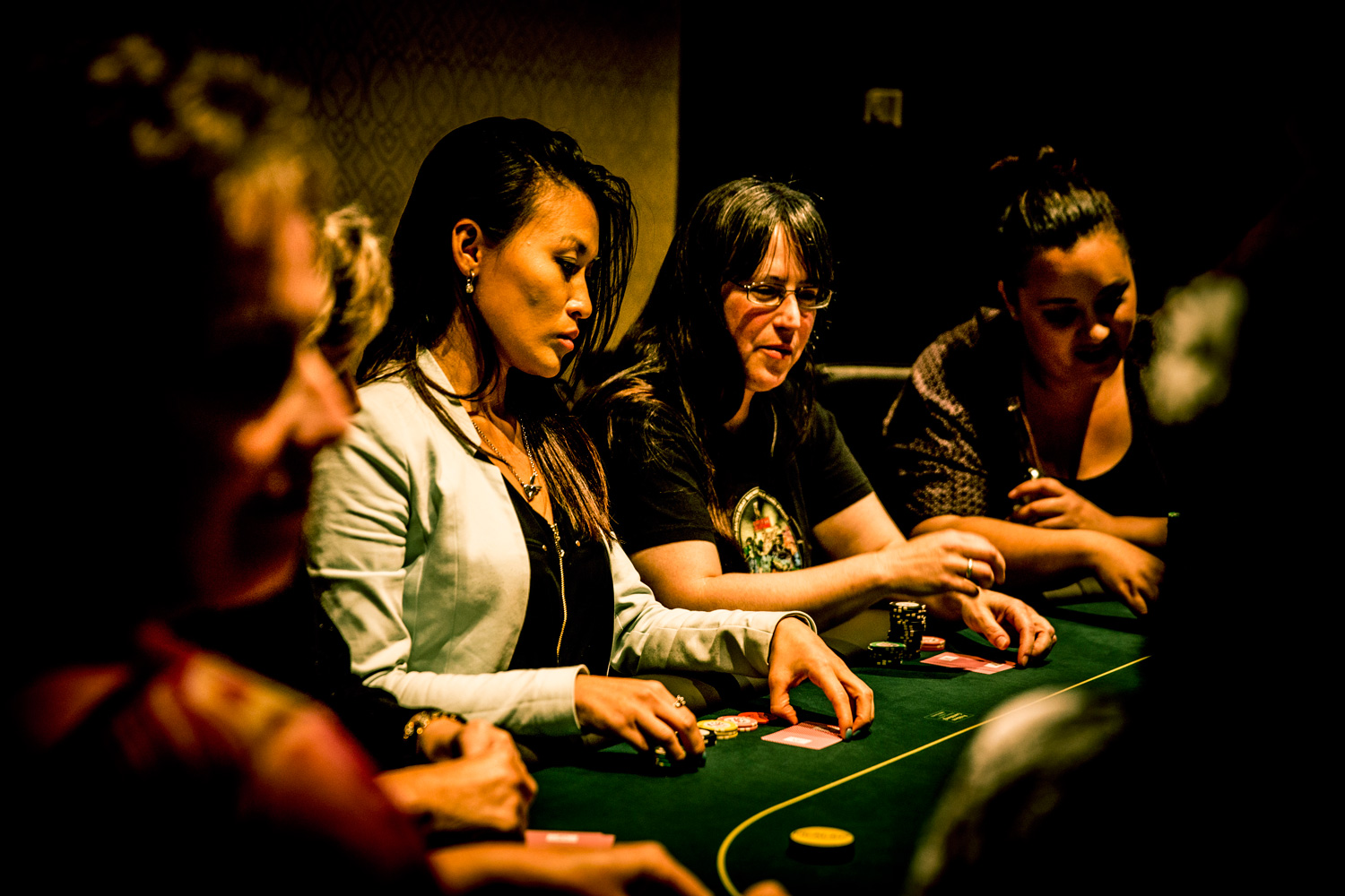 Sarah Lam (left), just back from playing in Las Vegas, came second in the women's side event at SkyCity.