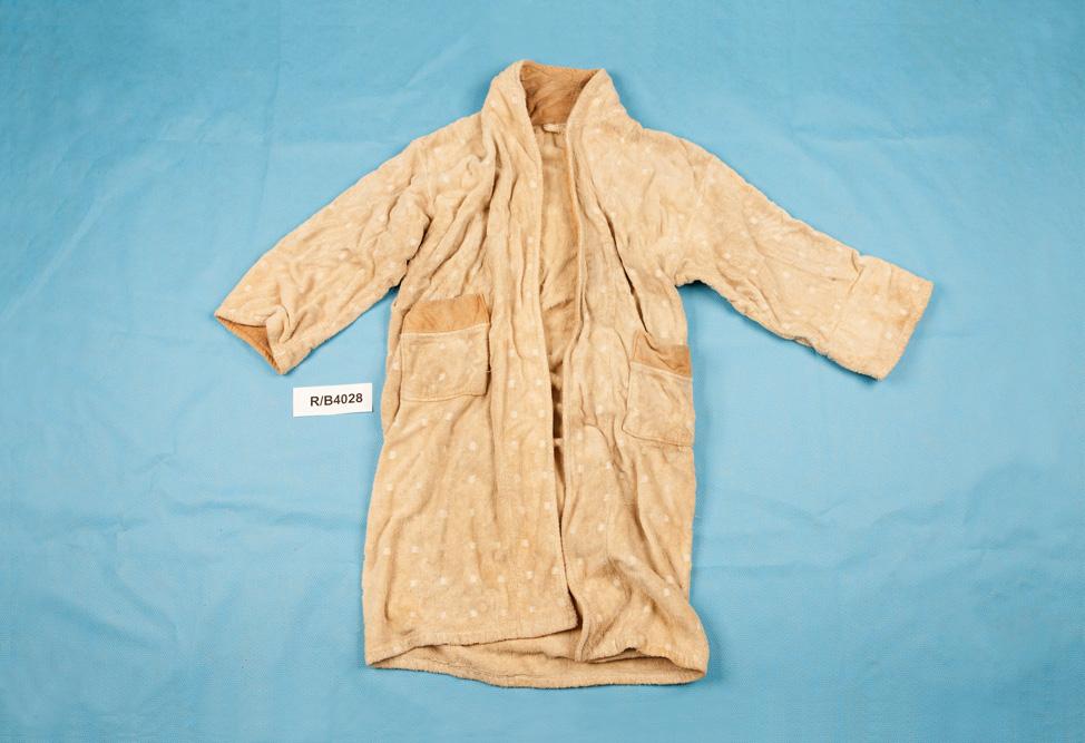 Derek King's bathrobe