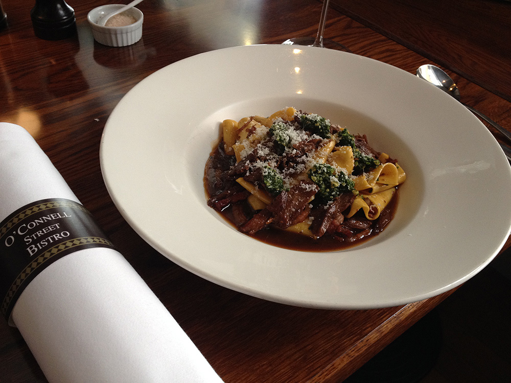 Braised rabbit pappardelle. Photo: Delaney Mes for Metro. All rights reserved.