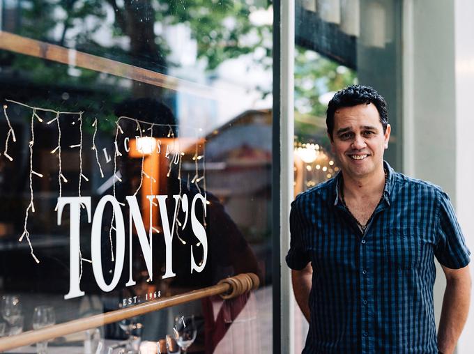 The last owner of Tony's on Lorne Street, Damon Ropata