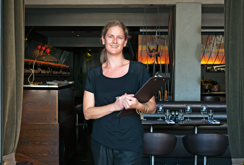 Owner Melissa Morrow at Ponsonby Road Bistro, Auckland