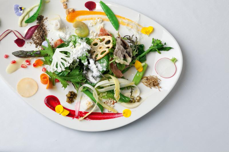Dish at Kazuya restaurant, Auckland
