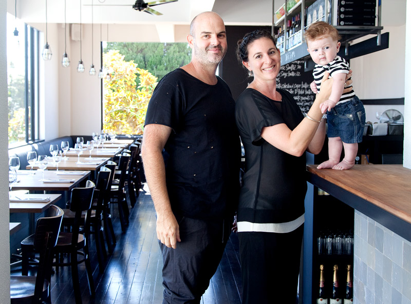 Carl Koppenhagen and Natalia Schamroth of the Engine Room with son Marlow