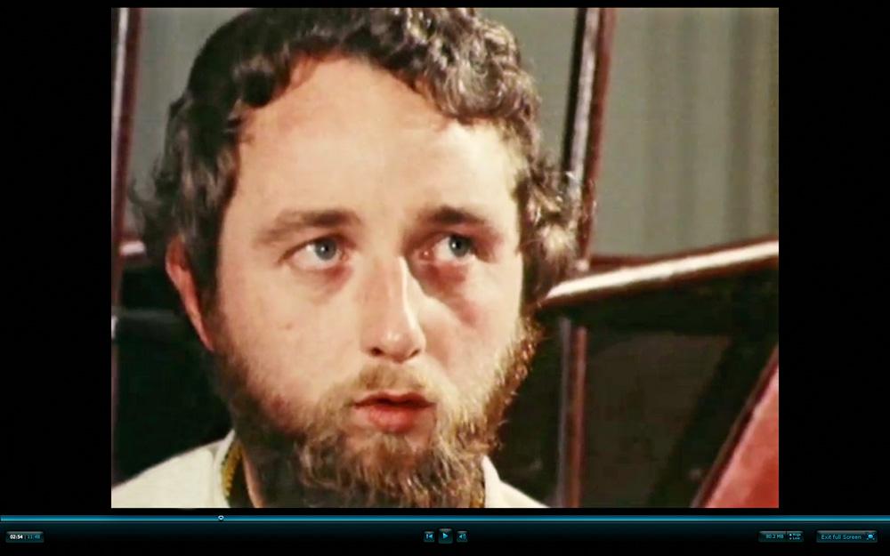 Derek King in a still from a punk documentary, 1978