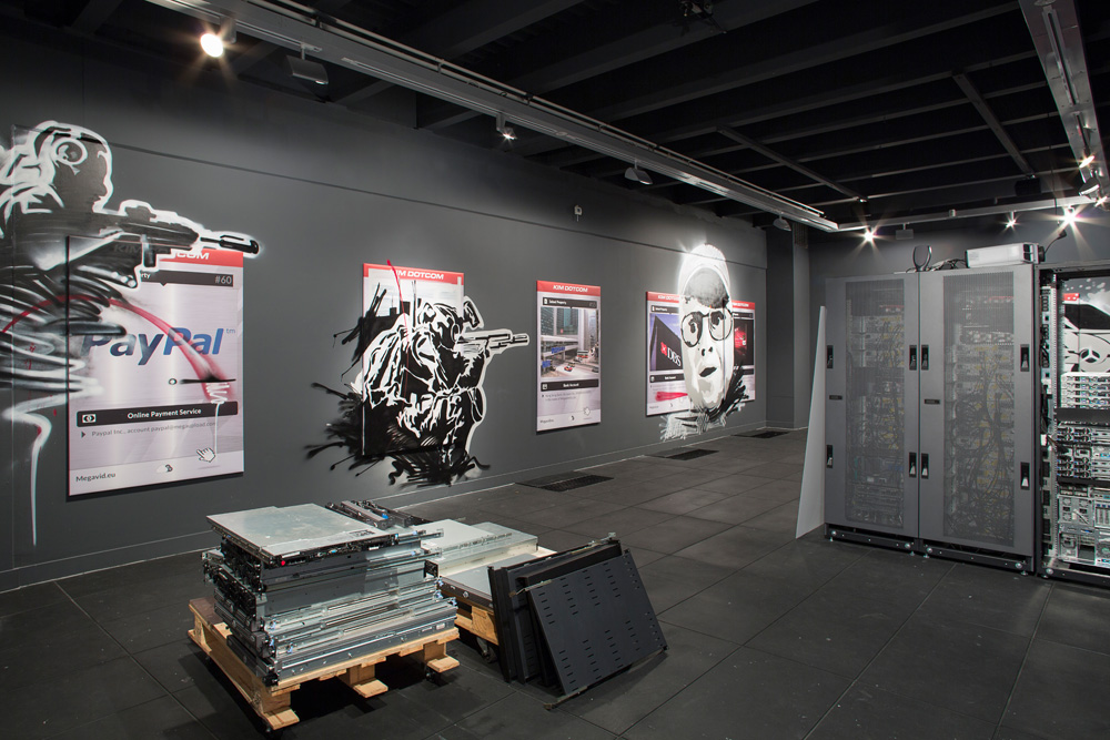 Simon Denny: The Personal Effects of Kim Dotcom, Adam Art Gallery