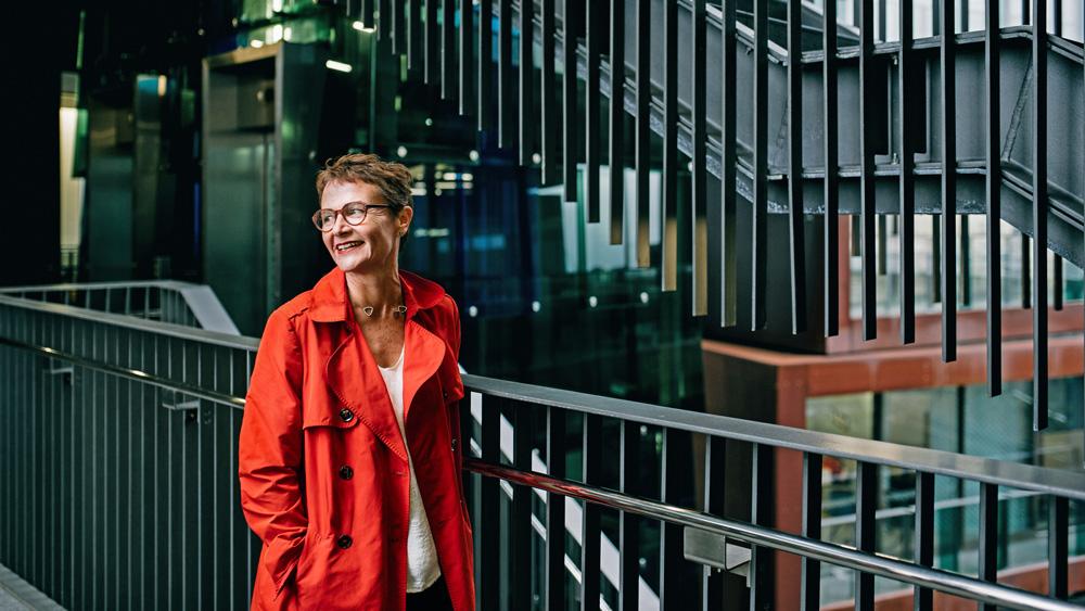 Christina van Bohemen in the IronBank building on Karangahape Rd, where her practice is based.
