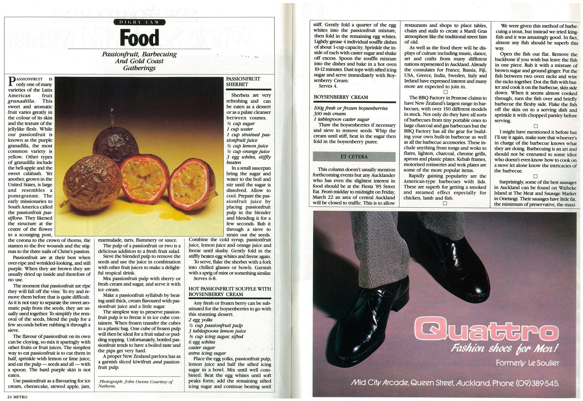1985 issue of Metro