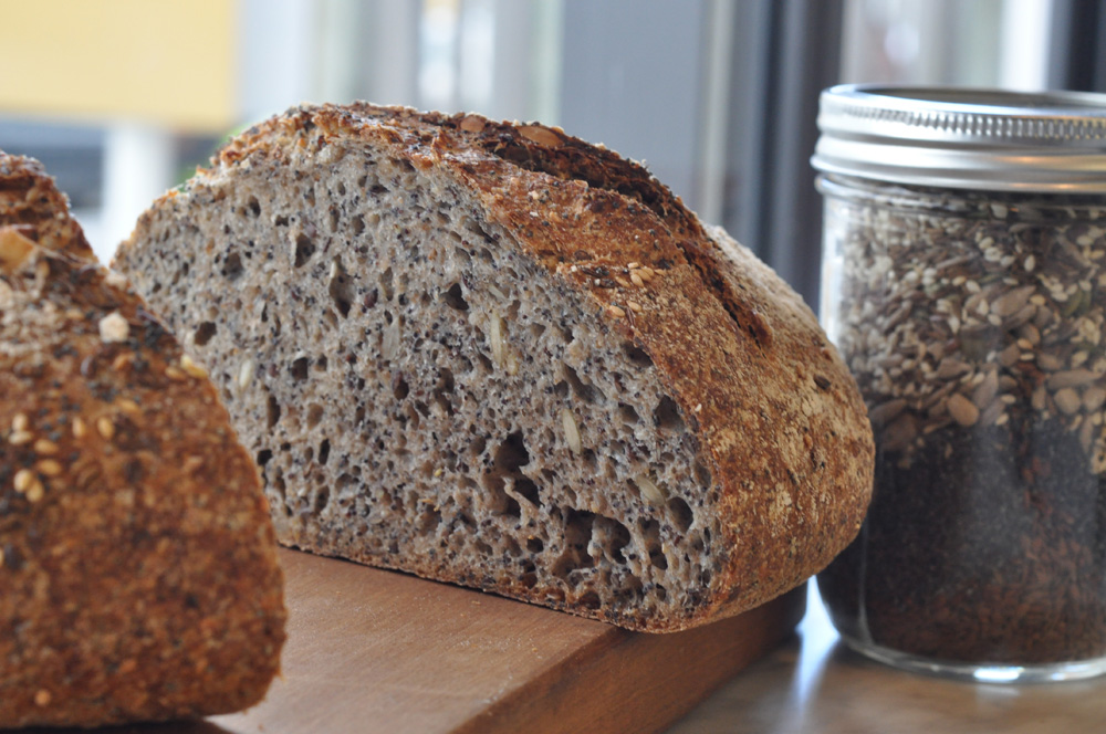 Seed loaf at Gramercy Bakery, Wellington