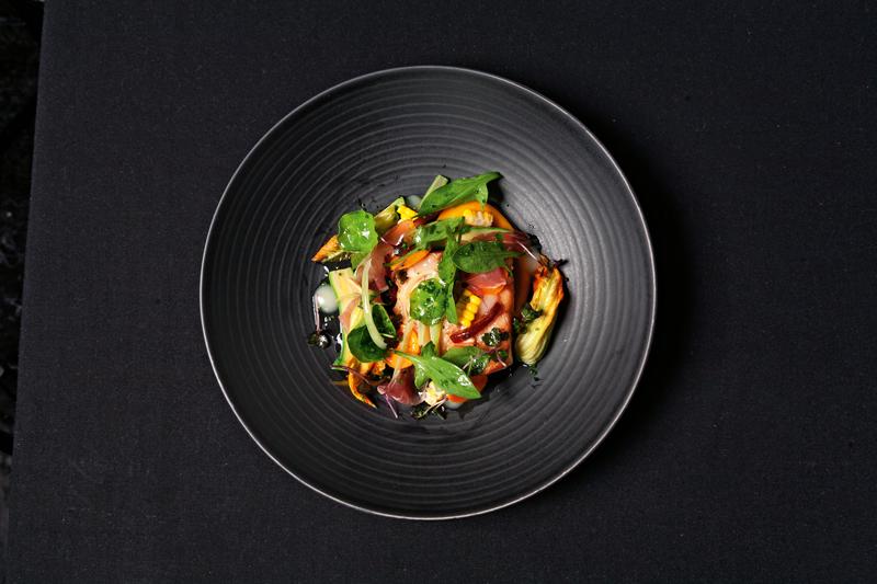 Dish at Clooney restaurant, Auckland