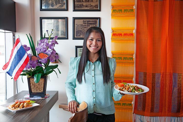 Wandi Inthayung at Thai Yum Food Hut, Birkenhead