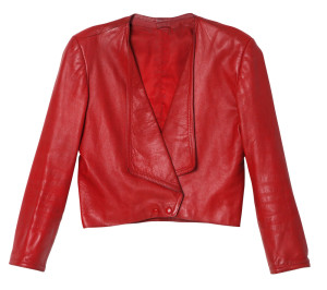 Julia Deans' red leather jacket