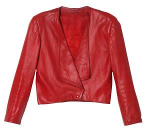 Julia Deans' red leather jacket