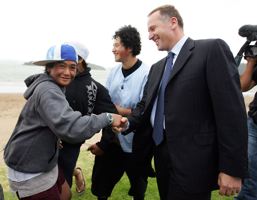 At Te Tii Marae in Waitangi, 2008.