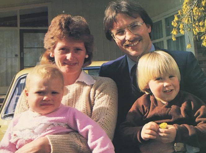 Phil Goff with his family in 1985. Photo / Ken George