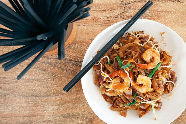 Noodle dish at Selera, Auckland
