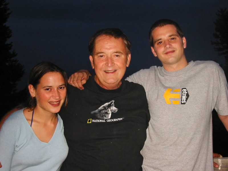 Barnaby Jack, right, with sister Amberleigh and father Mike in Auckland in 2002.