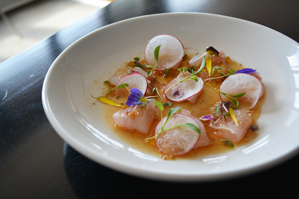 Snapper sashimi at Ebisu. Photo: Delaney Mes for Metro. All rights reserved.