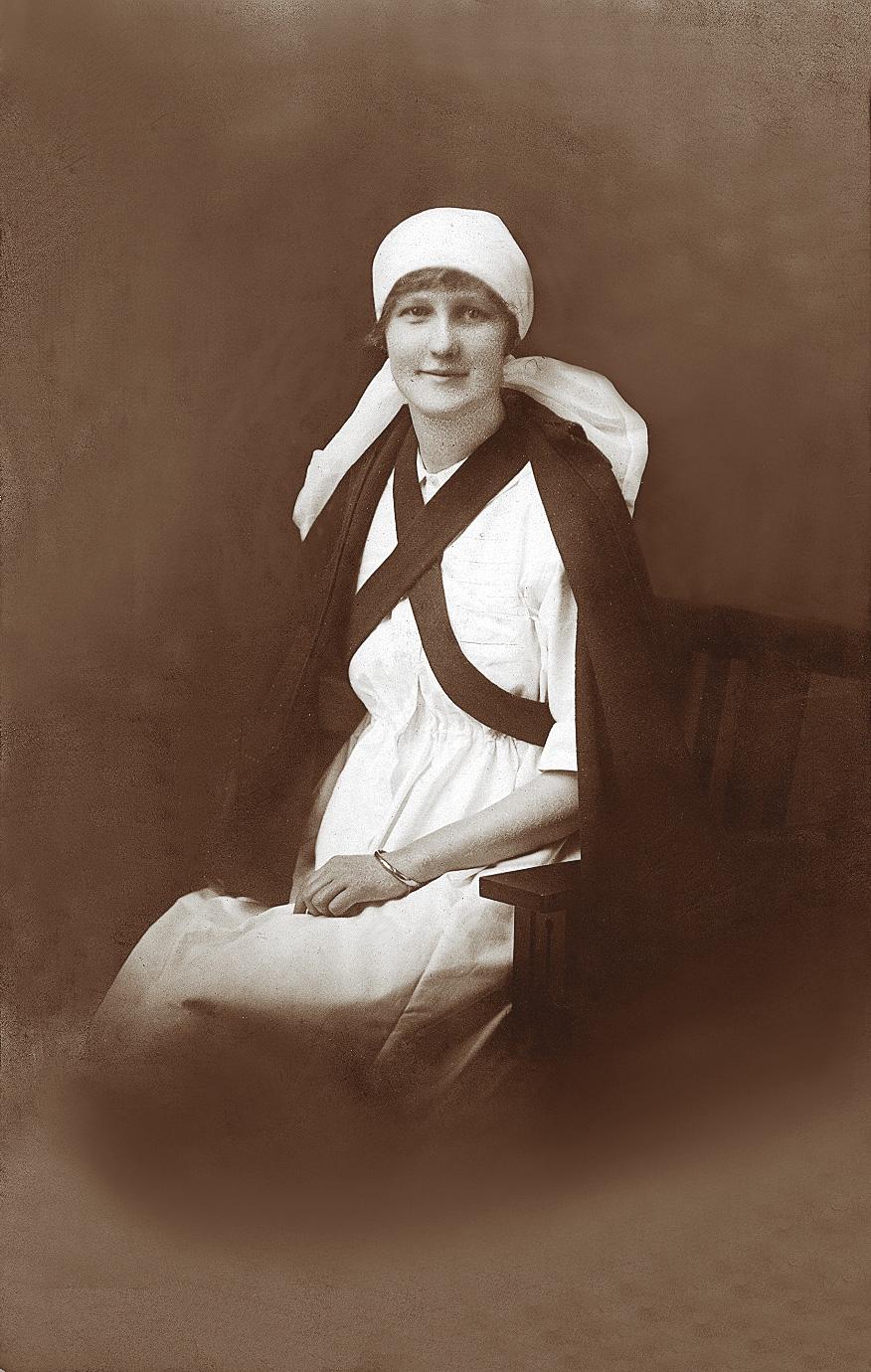Hazel Bentham (photo probably 1924.)