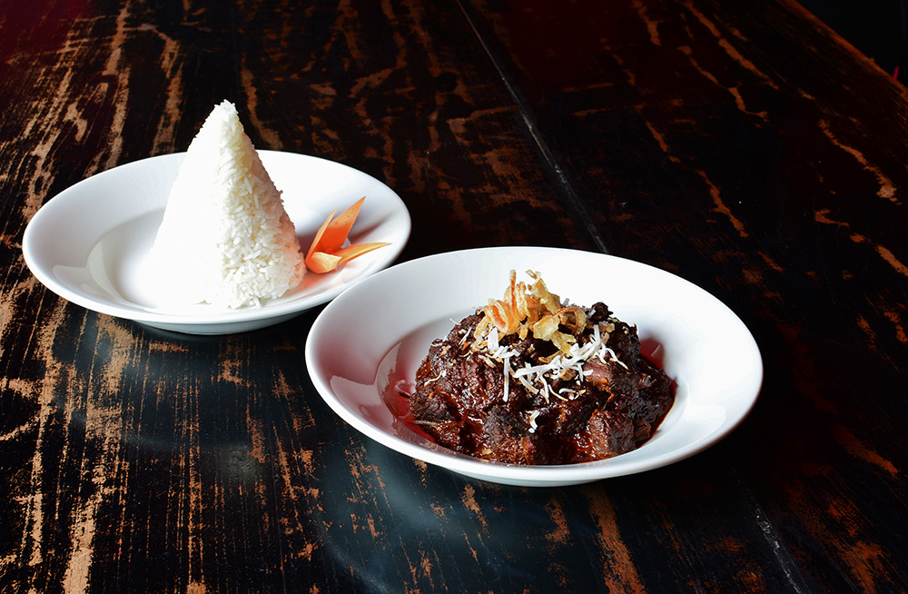 Beef rendang Monsoon Poon.