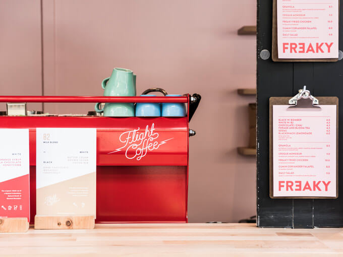 Freaky is a minimal new cafe in central Auckland
