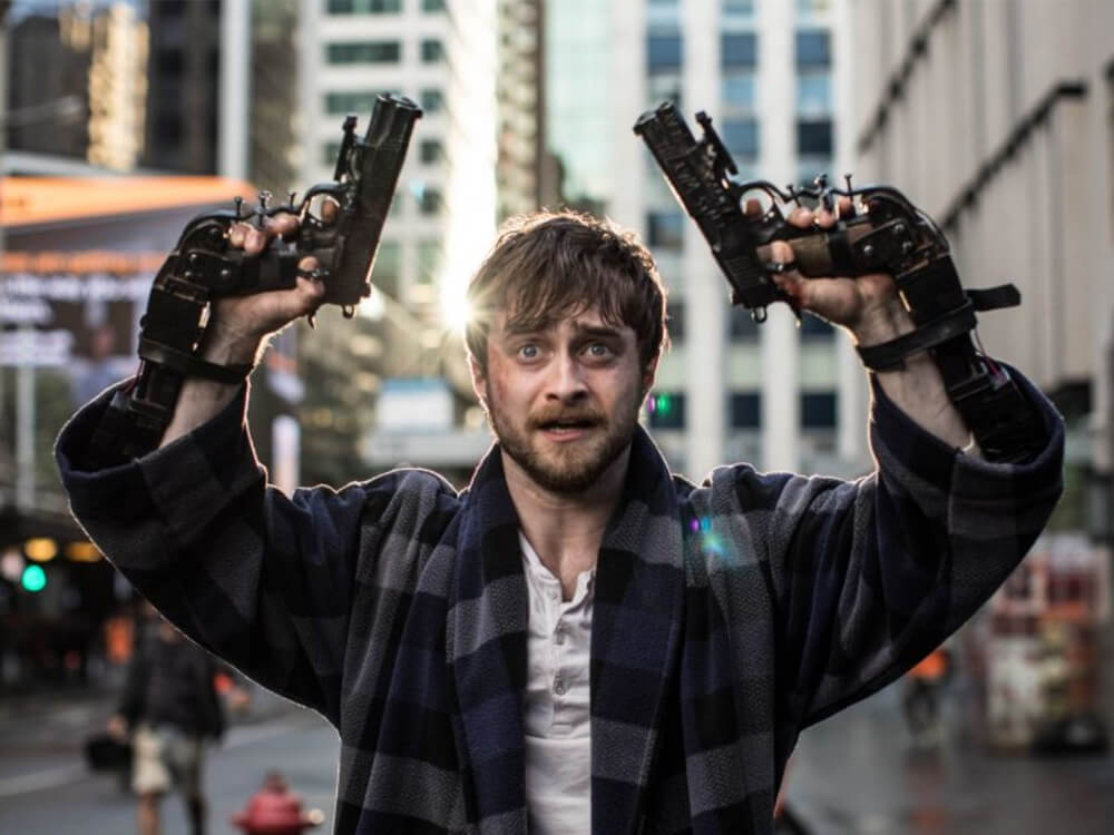 Kiwi-made, Auckland-filmed Guns Akimbo is bloody, gory and action-packed